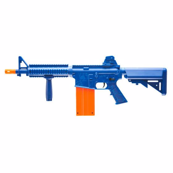 Picture of REKT OpFour CO2 Powered Blue Foam Dart Rifle with 12-round magazine : Umarex USA