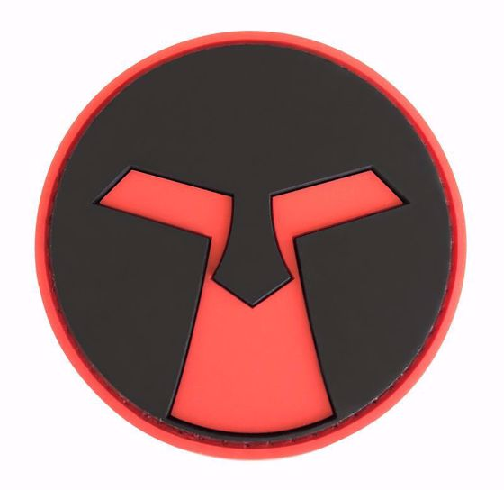Picture of AMOEBA AIRSOFT PVC PATCH - RED & BLACK